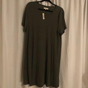 Madewell, Sz XXL olive green babydoll dress. New